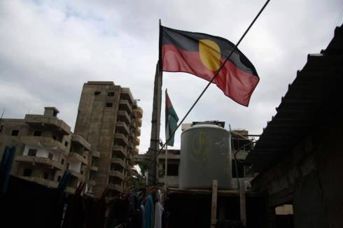 Aboriginal Flag Flies in Burj al Barajneh