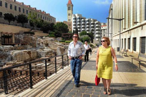 Engelbert tours the Beirut Central District