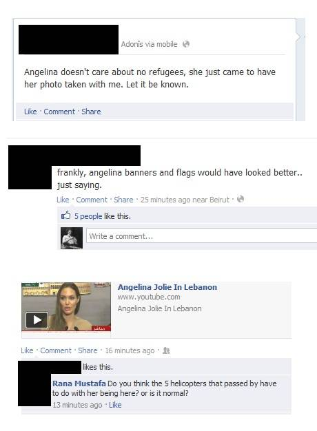 Angelina-related statuses flood Facebook