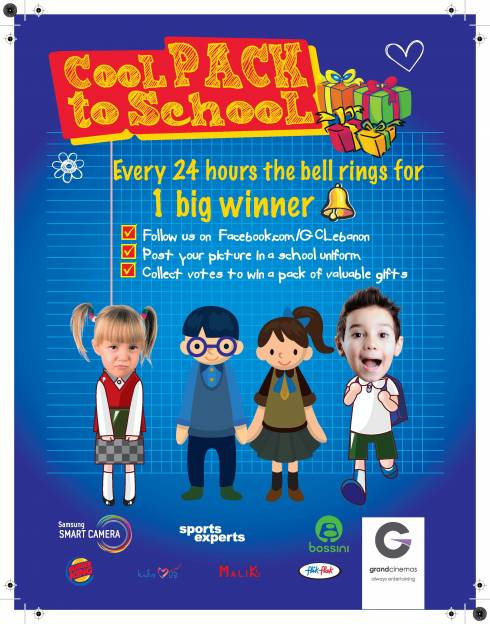"""Cool Pack to School,"" an exciting way to get ready for school with Grand Cinemas"