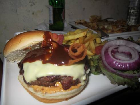 The Angus Beef Burger at Garage 78
