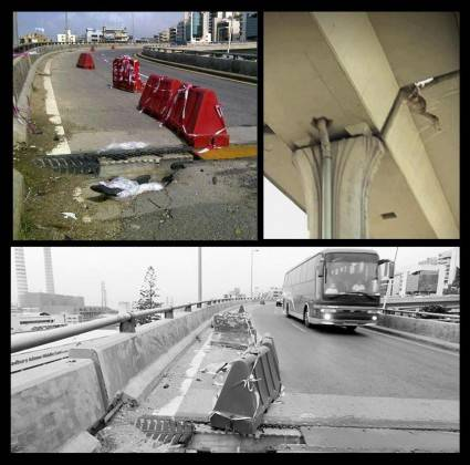 Zouk Mosbeh Bridge Damage Goes Unfixed