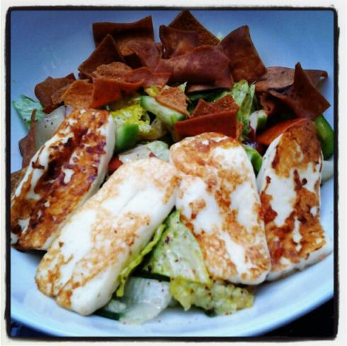 Cafe Hamra's Fattoush and Halloumi Salad