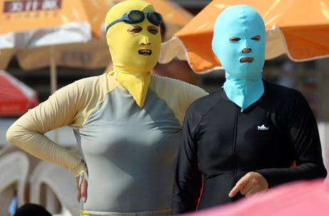 China's Latest Beachwear Trend: The Face-Kini