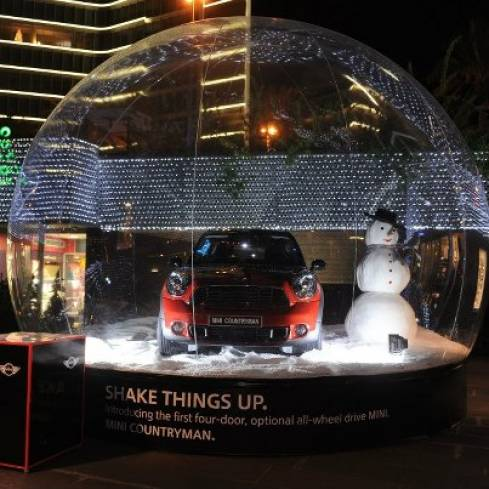 A MINI Cooper in a Mini Snowglobe is Up for Grabs
