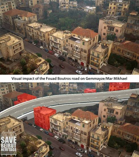 Visualizing the Highway Reconstruction Plan in Achrafieh