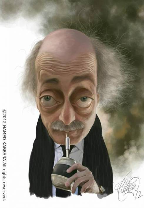 Cartoon Jumblat is Kinda Creepy