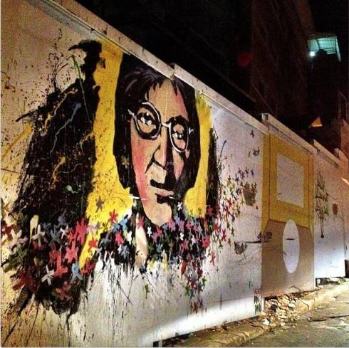 Imagine John Lennon...On a Wall