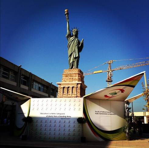A Statue of Liberty... in Lebanon