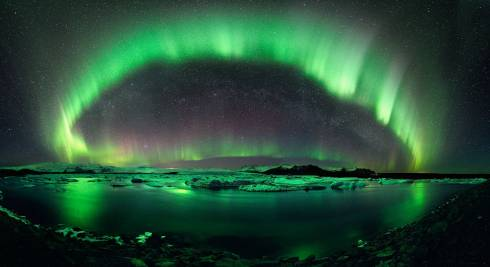 The Northern Lights over Iceland