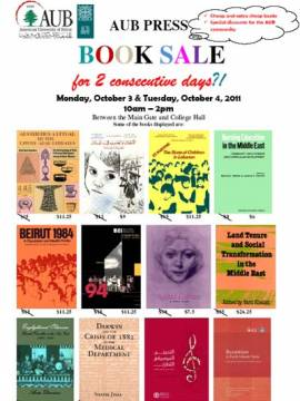 Fourth AUB Press Book Sale