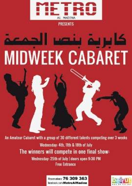 Midweek Cabaret- Singing Night