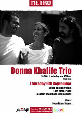 Donna Khalife Trio at Metro Al Madina