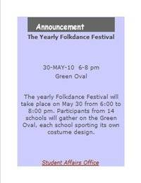 The Yearly Folkdance Festival