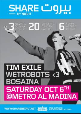 Tim Exile and Wetrobots ♥ Bosaina Live at Metro Al Madina
