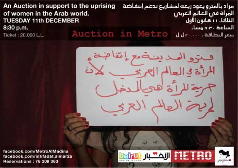 Auction in Metro Supporting the Uprising of Women