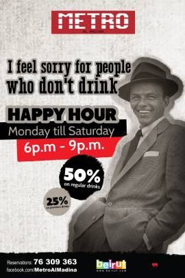 Happy Hour at Metro Al Madina