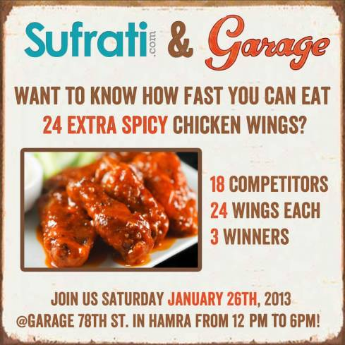 Spicy Wings Competition at Garage 78 St.