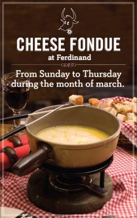 Fondue Night at Ferdinand