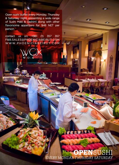 Sushi Night at WOK W.O.K