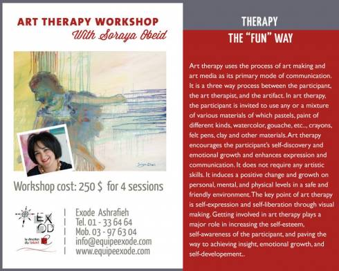 Art Therapy Workshop With Soraya Obeid