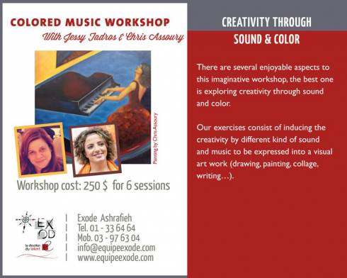 Creativity Through Sound and Color Workshops at Exode
