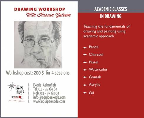 Academic Class in Drawing at Exode