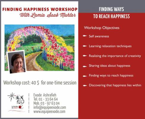 Finding Happiness Workshops at Exode