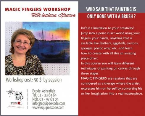 Magic Fingers Workshop at Exode