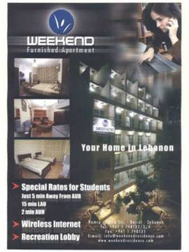 Weekend Furnished Apartments