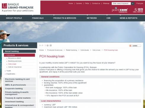 PCH Housing Loan at Banque Libano-Française (BLF)