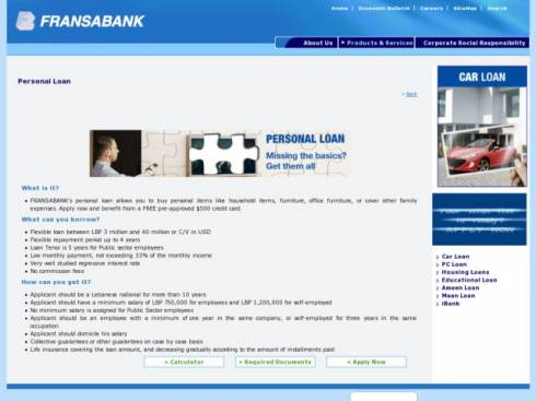 Personal Loan at Fransabank