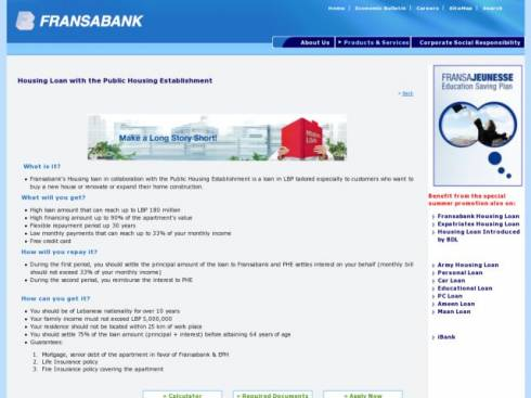 Housing Loan with the Public Housing Establishment at Fransabank