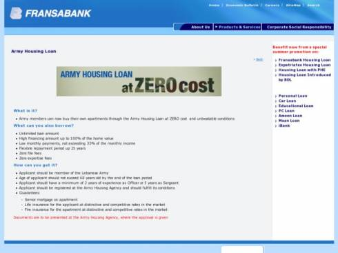 Internal Security Forces Housing Loan at Fransabank
