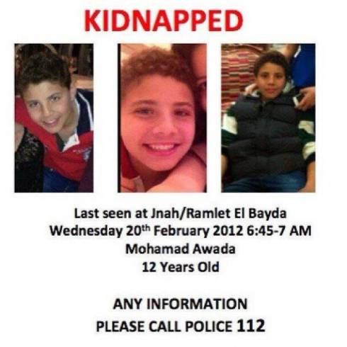 Kidnappers Want $1 million for 12-Year-Old Lebanese Boy