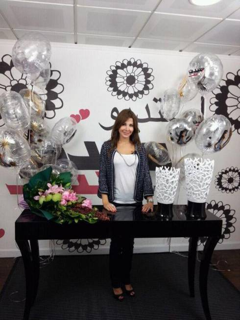Nancy Ajram Shows Support for Breast Cancer Awareness