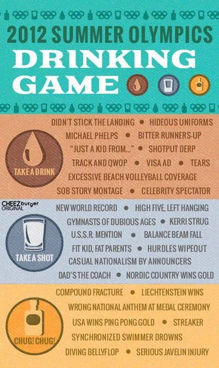 The 2012 Summer Olympics drinking game