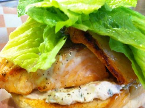 BRGR Co.'s Lent-Friendly Salmon Burger