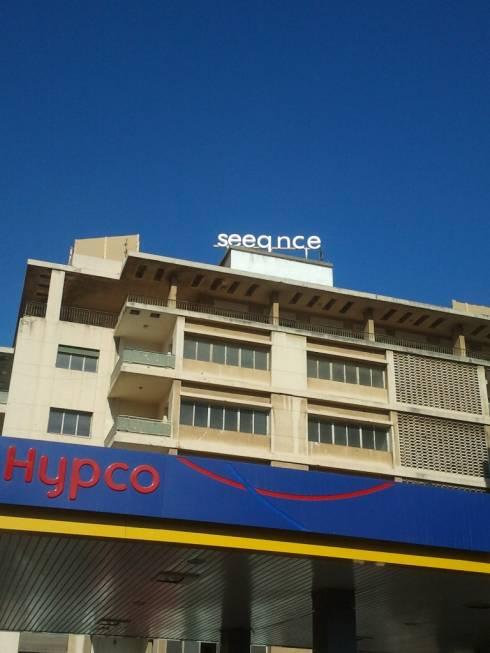 Spotted: Huge Seeqnce Rooftop Logo