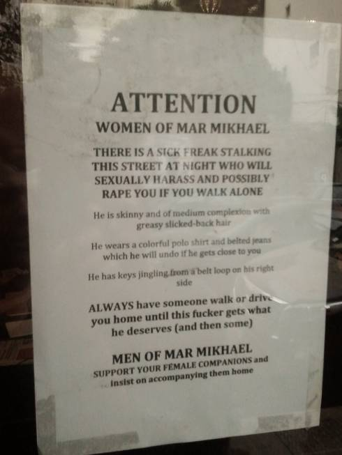 Report of Sexual Harassment in Mar Mikhael