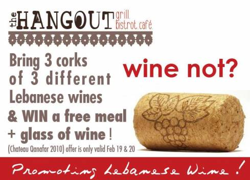 The Hangout: Where Lebanese Wine Gets You Free Food