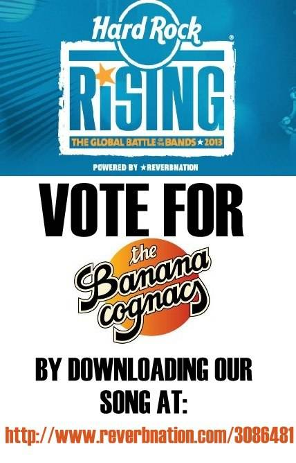 The Banana Cognacs in the Running for Hard Rock's Battle of the Bands