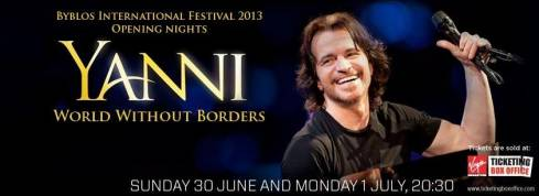 Yanni's Coming to Lebanon This Summer